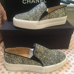 Shoes - Slip on Sneakers ✨glitter size 6.5